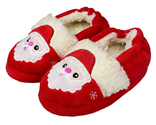Childrens Christmas Slippers - Toddler's Cute Cartoon Slippers Warm Winter