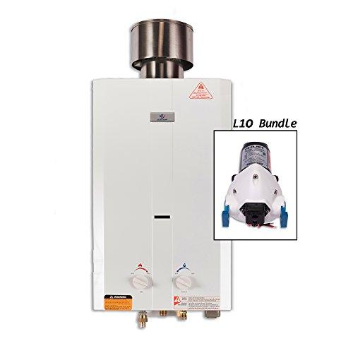 Eccotemp Portable Water Heater (Eccotemp L10 Pump Bundle L10 Portable Tankless Water Heater w/ Flojet Pump)