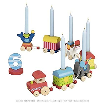 Amazon.com: Goki cumpleaños Circus World tren: Toys & Games