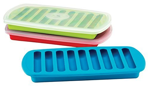 Joie Ice Sticks for Water Bottles, Ice Cube Tray, Makes 9 Ice Sticks, Assorted Colors