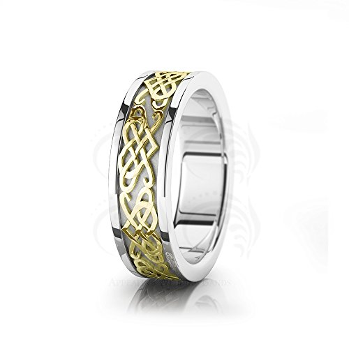 Heart Knot Wedding Band Ring - 8