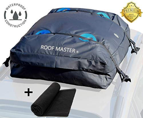 P.I. AUTO STORE ROOFMASTER The Ultimate Car Rooftop Cargo Carrier for All Vehicle Roof Racks. Truck Cargo Bag. Unique Waterproof Design - Universal - 16 Cu ft. Includes Roof Mat