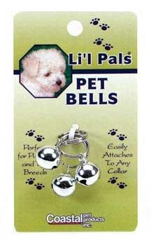 Li'l Pals Silver Pet Bells – Card of 3, My Pet Supplies