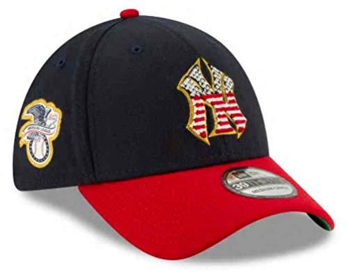 New Era Thumbnail 0Thumbnail 1Thumbnail 2Thumbnail 3 Men's New York Yankees Navy/Red 2019 Stars & Stripes 4th of July 39THIRTY Flex Hat - Hat Day Independence