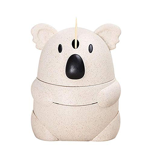 (Push Toothpick Dispenser, Automatic Cute Koala Toothpick Holder Smart Funny Portable Plastic Toothpicks Organizer Storage Box Case Home Bar Kitchen Table Accessories)
