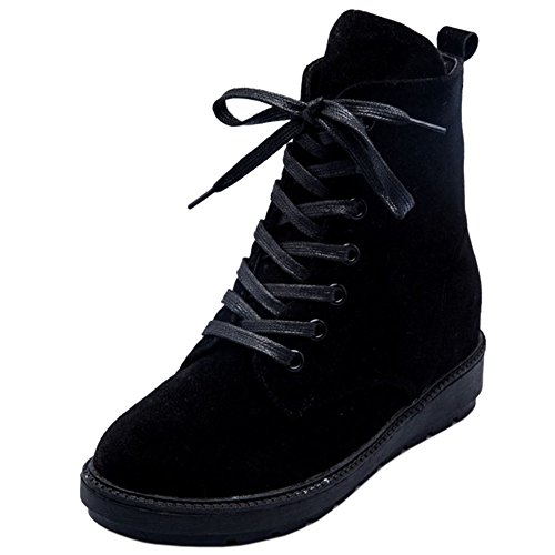 Black Comfort Platform KemeKiss Girls Heel Hidden Boots Low Ankle 1ZFqUxwF4