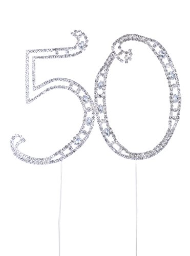 Langxun Number 50 Cake Topper for 50th Birthday or Annive...