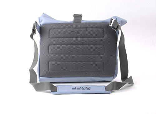 BREE - Punch 715, Skydiver, Messenger S18, Mochilas Unisex adulto, Blau (Hellblau), 14x30x40 cm (B x H T)