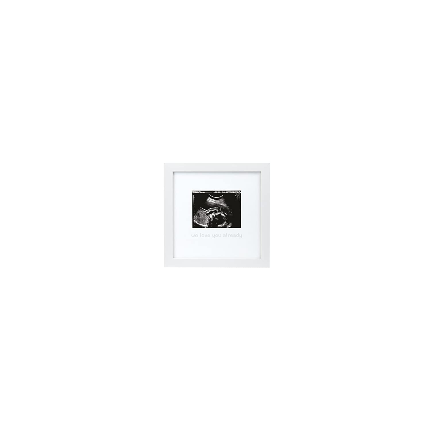 Tiny Ideas We Love You Already Sonogram Keepsake Photo Frame, White