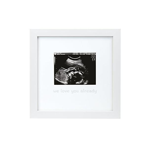Tiny Ideas We Love You Already Sonogram Keepsake Photo Frame, White
