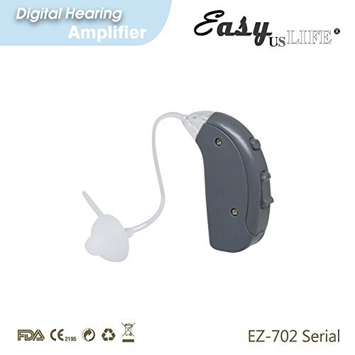 Right Ear Amplifier, Dark Gray ,By Easyuslife Hearing amplifier Device With Digital Noise Cancellation – Discreet & Lightweight Ear Amplifying Machine With Volume & Frequency Control System by EASYUSLIFE