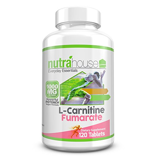 L-Carnitine Fumarate 1000 mg Tablets. L-Carnitine Helps Converting Stored Fatty Acids into ATP Metabolic Energy. 120 Tablets. by NutraHouse Vitamins