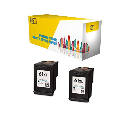Remanufactured Ink Cartridge Replacement for HP 61XL CH563WN (2 Black, 2-Pack)