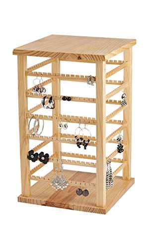 - Large Wood Rotating Earring Display - 9 3/8