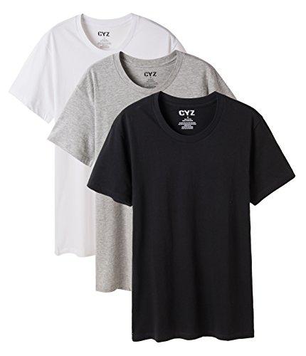 CYZ Men's 3-PK 100% Cotton Crew Neck T-Shirt