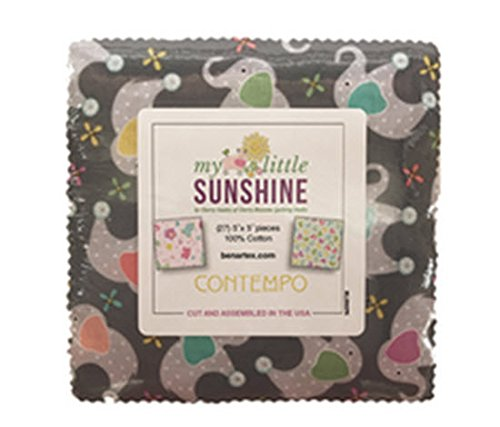 - Cherry Guidry My Little Sunshine 5X5 Pack 42 5-inch Squares Charm Pack Benartex