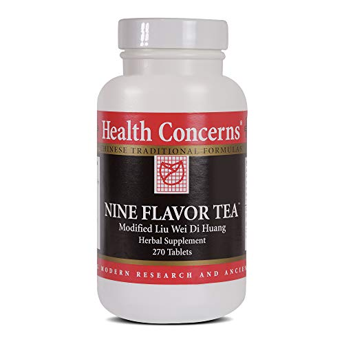 Health Concerns – Nine Flavor Tea – Modified Liu Wei Di Huang Herbal Supplement – 270 Tablets