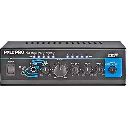 Pyle - 240 Watt Mini Stereo Power Amplifier