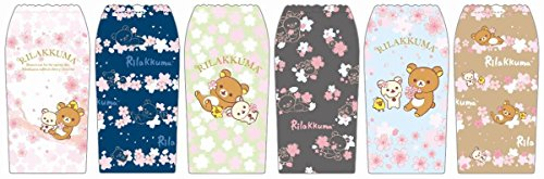 Japanese wisteria garden ITOEN limited and-not original Rilakkm rilakkuma plastic bottle cover all six tea cherry pattern set complete 2018 by movic