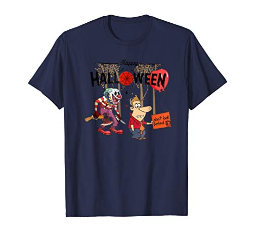 happy halloween 2018 t shirt with scary clown
