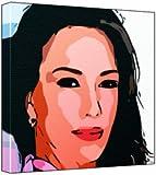 Hunter Tylo - Pop Art Print (Comic Effect) 30 x 30 x 2 cm Medium Square Deep Box Canvas