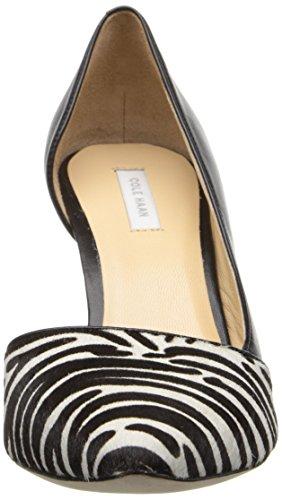 Cole Haan Womens Highline Dorsay Pump Zebra Haircalf / Zwart