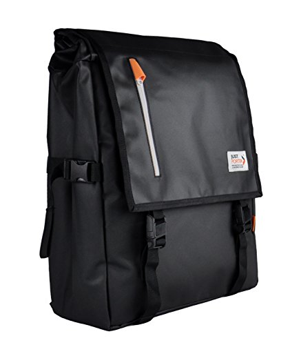 Weather-Proof Commuter Backpack Black - By Just Porter | 16'' Laptop | 19L - 23L by Just Porter