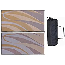 Ming's Mark GB7 Brown/Gold 8' x 16' Graphic Mat