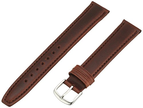Hadley-Roma Men's MSM881LB-180 18-mm Brown Oil-Tan Leather Watch Strap