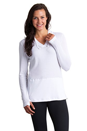 ExOfficio Women's BugsAway Lumen Hoody, White, Medium (Bug Repellent Clothing)