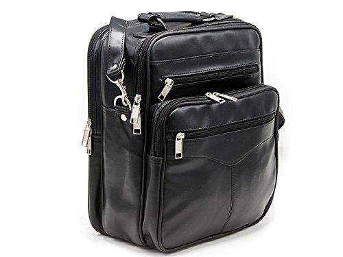 (Goson PU Leather Cross Body Messenger Bag Shoulder Laptop iPad Briefcase)