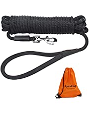 lynxking Check Cord Dog Lead Long Dog Training Leash Tracking Line with Comfortable Handle Heavy Duty Puppy Rope Lead for Small Medium Large Dogs