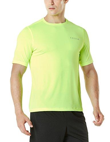 Tesla TM-MTS08-NEY_Medium Men's HyperDri Short Sleeve T-Shirt Athletic Cool Running Top MTS08