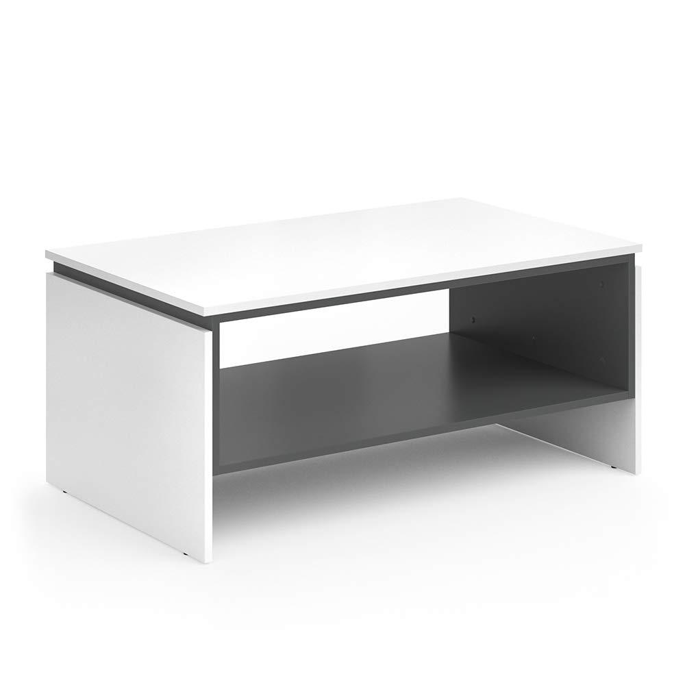 Vicco Couchtisch Sebastian 100x45x60cm - Beistelltisch Kaffeetisch Sofatisch Wohnzimmertisch Tisch weiß ANT