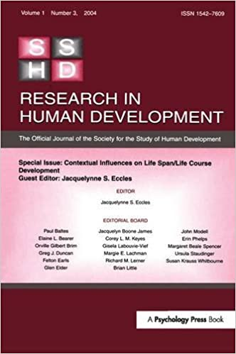 Contextual Influences on Life Span/life Course: A Special Issue of Research in Human Development