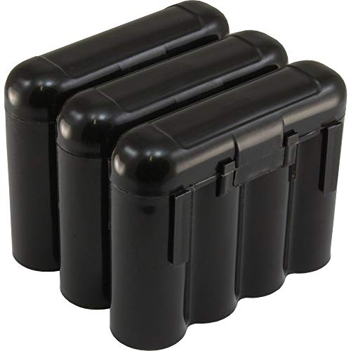 3 AA/AAA / CR123A Black Battery Holder Storage Cases