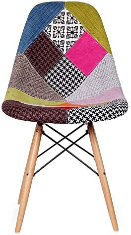2xhome Multicolor Wooden Dining Chair
