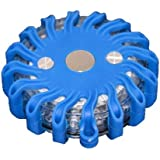 Gyrophare balise de signalisation lumineuse LED avec base magnétique (Bleu)