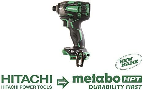 Metabo HPT 18V Cordless Impact Driver, Triple Hammer Technology, Powerful 1, 832 In Lbs Torque, Variable Speed Trigger, IP56 Compliant, LED Light, Tool Only No Battery, WH18DBDL2Q4