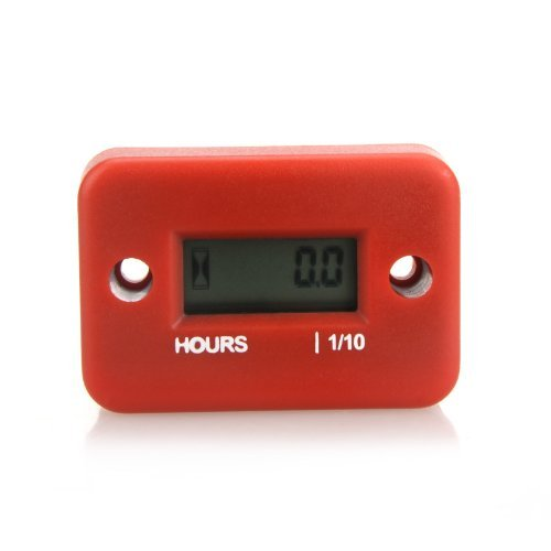 Docooler? Inductive Hour Meter for Marine ATV Motorcycle Dirt Ski Waterproof (RED)