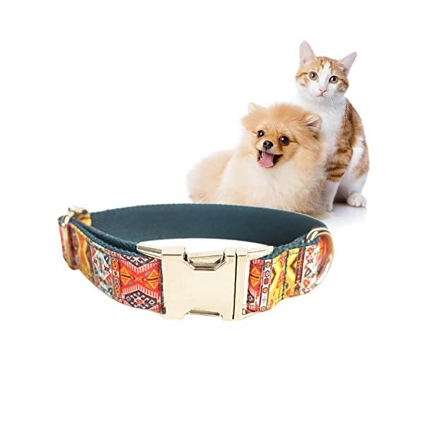 Legendog Print Dog Collar Fashionable Alloy Buckle Dog Collar Adjustable Pet Collar for Dog Cat Size M Click on image for further info. 5
