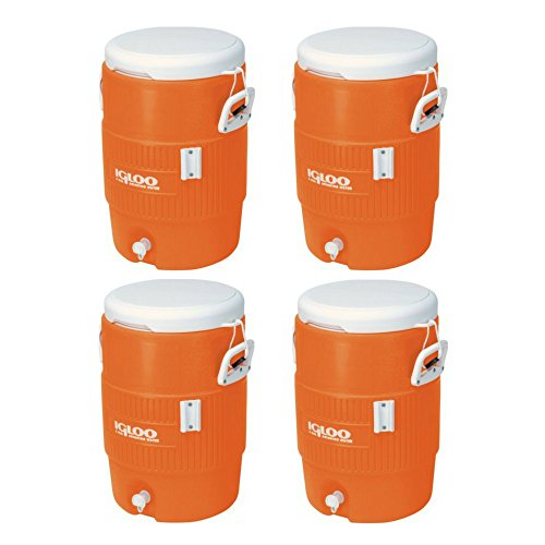 - Igloo 5 Gallon Seat Top Beverage Jug with spigot - (4 Container)