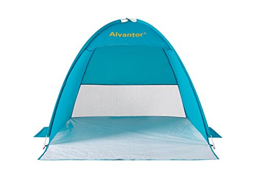 Beach Tent CoolHut Sun Shelter Instant Portable Cabana Shade Outdoor Popup Anti-UV 50+ Lightest & Most Stable Easyup By Alvantor