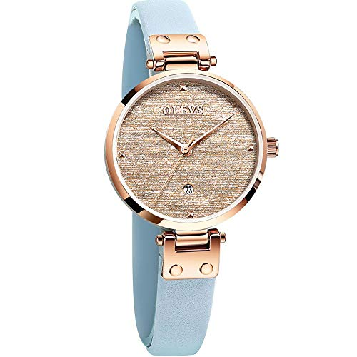 Women's Watches Small Wrist Date,Rose Gold Watches for Women Waterproof Small Leather Watch,Ladies Dress Watches on Clearance,Woman's Thin Watches with Date,Simple Casual Classic Analog Wrist Watch