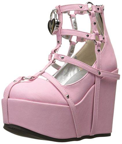 Pink Women's 2 pnvl Demonia Poi25 Bootie Vegan Ankle Leather qY1AHdvx