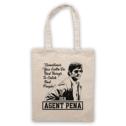 Narcos Agent Pena Do Bad Things To Catch Bad People Bolso Natural