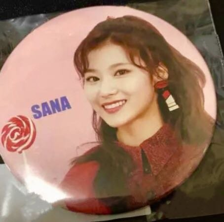 TWICE サナ SANA Candy Pop 缶バッジ 缶バッチ ハイタッチ会 即完売 グッズ リリイベ
