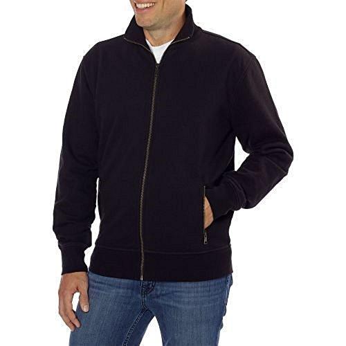 - Kirkland Signature Mens Full Zip Sweatshirt (Small, Black)