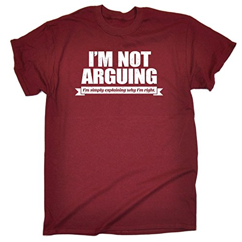 123t Men's I'm Not Arguing I'm Simply Explaining Why I'm Right T-SHIRT