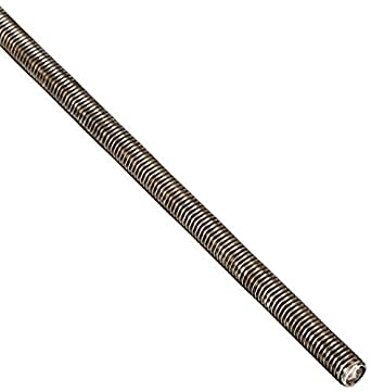 18-8 Stainless Steel Fully Threaded Rod, 3/8